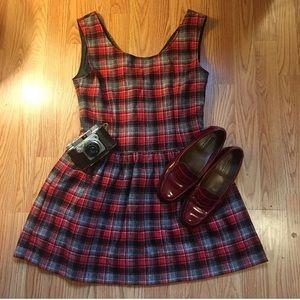 🐑Vintage Wool Plaid Dress by Lanz Original🐑